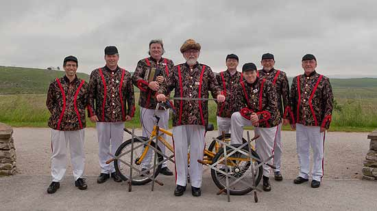 "Grenoside Sword Dancers on our ""Greno Depart"" during the 2014 Tour de France"
